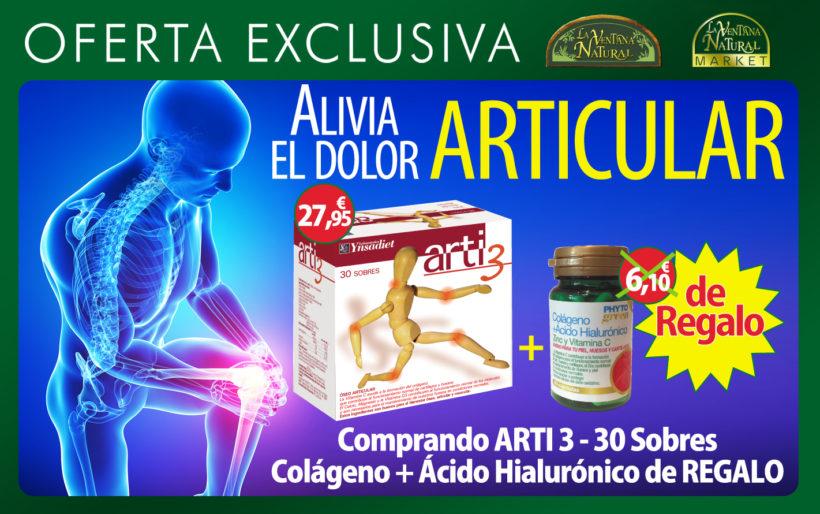 Oferta de Marzo: Por la compra  Arti3 30 sobres de Ynsadiet por 27,95€, te llevas de regalo Colágeno con ácido hialurónico 60 capsulas, valorado en 6,10€