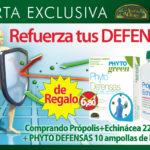Oferta Noviembre: Combate el resfriado…Por la compra de Echinacea con Propoleo formato ahorro 225 cápsulas por 25,05€, te regalamos PhytoDefensas 10 ampollas, valorado en 6,80€