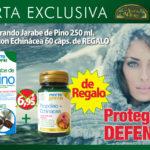 Oferta Diciembre: Cuida tu resfriado con remedios naturales, por la compra de jarabe de pino 250 ml por  13,10€, te regalamos propoleo con echinacea 60 capsulas, valorado en 6,95€