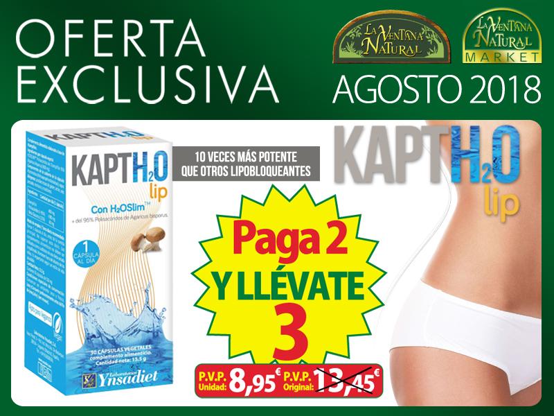 Oferta de Agosto: Por la compra de dos Kaptholip Ynsadiet, la tercera unidad gratis. La unidad te sale a 8,95€