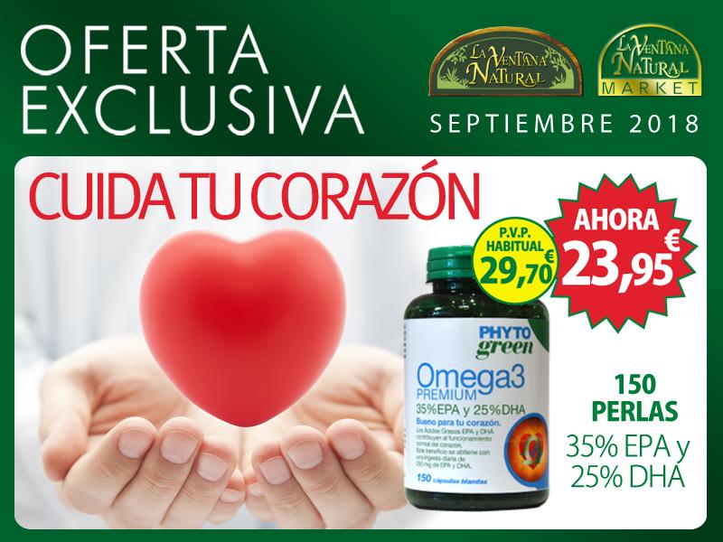 Oferta de Septiembre: Ofertas Omega 3 Premium 150 perlas de Phytogreen, por solo 20,70 € (precio habitual 23,95 €)