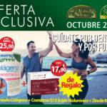 Oferta de Octubre: Por la compra de un Colágeno con Coenzima Q10 bote 300 g Phytogreen, un Ácido hialurónico con zinc 60 cápsulas Nutriox de regalo. ¡Mejora tu salud articular!
