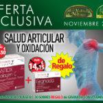 Oferta de Noviembre: Por la compra de un Antiox Colagen C 30 sobres, una Granada con vitamina C 40 cápsulas Nutriox de regalo. Cuida la salud de tu piel, cartílagos y huesos!