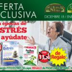 Oferta de Diciembre: Por la compra de un Zentrum Fitoestrés 30 cápsulas un Pasiflora Retard 30 comprimidos de regalo. Vive sin estrés estas Navidades!