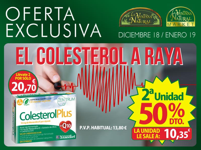 Oferta de Diciembre: Por la compra de un Zentrum Colesterol 2ª unidad al 50% de descuento. Mantén a raya tu colesterol!